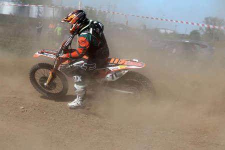 Russia, Volgodonsk - June 02, 2015 Motorcycle Racing Rally cross-country