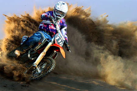 Russia, Volgodonsk - June 02, 2015 Motorcycle Racing Rally cross-country