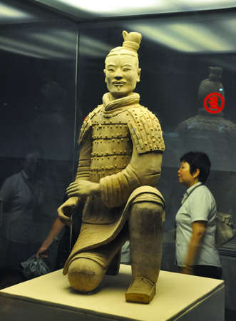 XIAN, CHINA - October 29, 2017: Archer of the terracotta army Terracotta Army