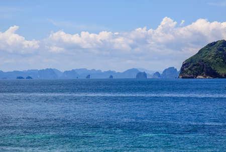 The rocks and hills near Phuket. Beaches of Thailand