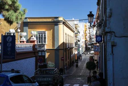 Costa Adeje, Tenerife, Spain - July 28, 2013: Hotels in Tenerife. Infrastructure for tourists.