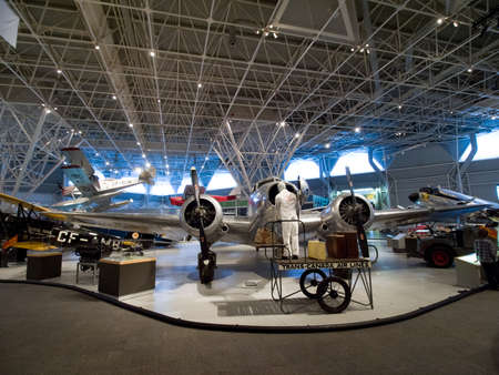 Berlin, Germany - June 19, 2018: Museum of aviation. Exhibition of aircraft exhibits in the museum. Éditoriale