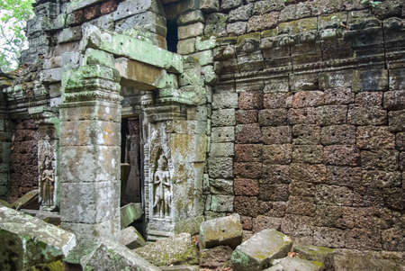 Stone Gate of Angkor Thom in Cambodia, Siem Reap Angkor