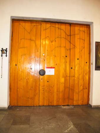 Antique doors and gates, cultural heritage in the form of doors, arches and gates. Stock fotó