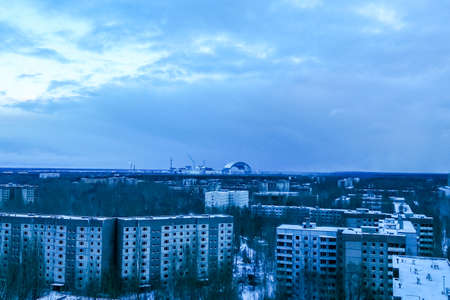 Pripyat, the exclusion zone of the Chernobyl disaster.