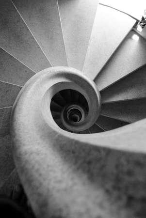 interior architecture: Stair in the cathedral of Sagrada Familia in Barcelona Stock Photo