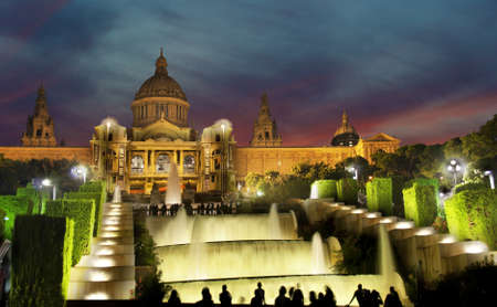 montjuic: BARCELONA, SPAIN - AUGUST 12: Palau Nacional de Montjuic on August 12, 2011 in Barcelona, Spain. National Palace of Montjuic is now known as the National Art Museum of Catalonia, this is a tourist attraction in the sitу.
