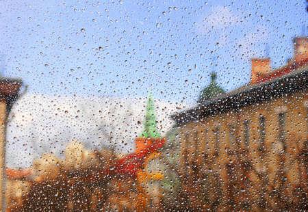 municipal: Municipal landscape in rain