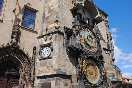 astronomical: Astronomical Clock in Pragues central square Stock Photo
