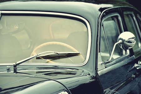prestige: Fragment of beautiful stylish old car. Elegance. Prestige. Vintage style. Stock Photo