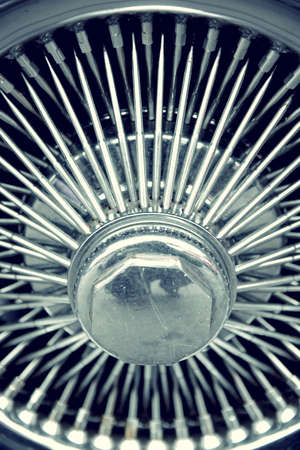 hubcap: Stylish automotive wheel with spokes