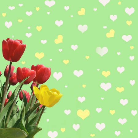abstrakt: Abstrakt background with tulips for greeting with a Happy Valentine (March 8, February 14). vintage style