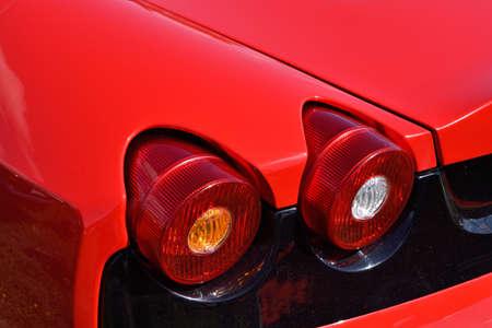 headlights: Frahemnt luxury car with original headlights stop. (Identity, vintage, unique - concept)