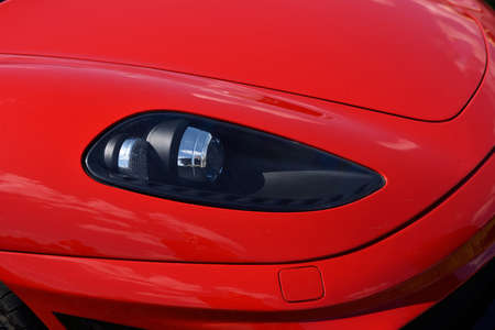 interesting: Interesting patterns fragment vehicle. Headlight vehicle (luxury, wealth, major - concept) Stock Photo