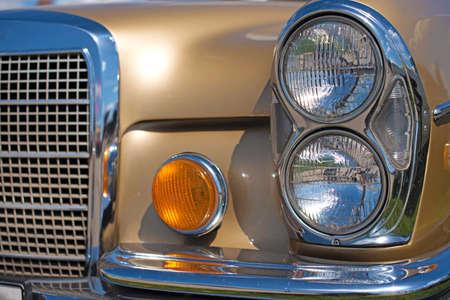 collectible: Headlight retro car. Vintage. (Luxury, wealth, major - concept)
