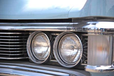Headlight retro car. Vintage. (Luxury, wealth, major - concept)
