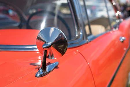 Mirror of the original retro car. Sophistication. Elegance