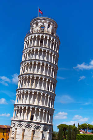 Amazing landscape with famous leaning tower in Pisa, Italy, Europe