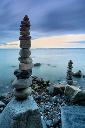 Coastal Sunrise, Balancing Stones, Baltic Sea, Jasmund National Park, Ruegen Island, Germany