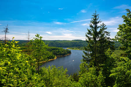 Scenic View of Lake Bleiloch, Thuringia, Germany