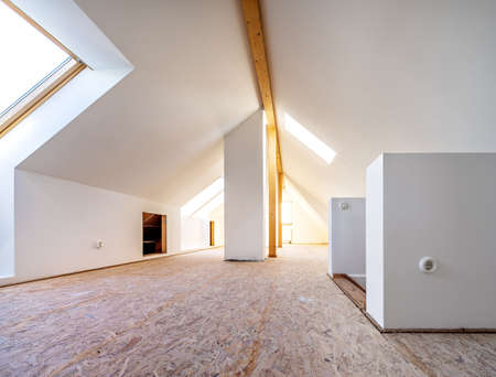 Do it yourself, attic is converted into light spacious living room