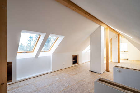 Converting an old attic into a light spacious living room