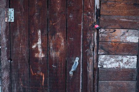 number 10: Maroon door with the number 10