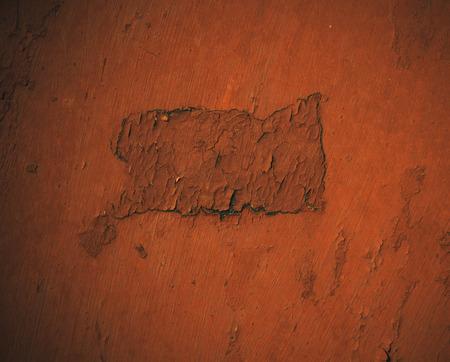 metal surface: The flat metal surface painted in orange