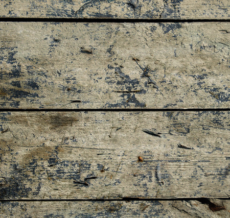 residual: Weathered old wooden board with residual traces of paint Stock Photo