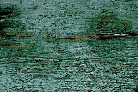 unevenly: Green wooden board unevenly painted Stock Photo