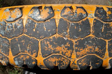stile: Old truck tire texture. Grunge stile background. Stock Photo