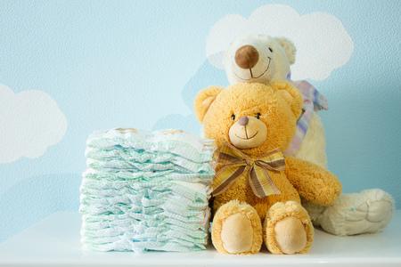 Spielzeug Bären und Windeln