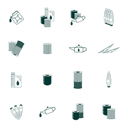 Set with Car Maintenance icons.