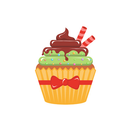 Vector illustration cupcake.