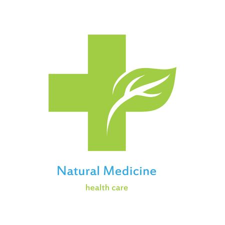 Icon of green medical cross Çizim