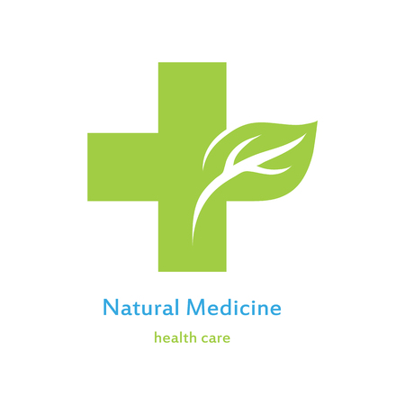 Icon of green medical cross Illustration