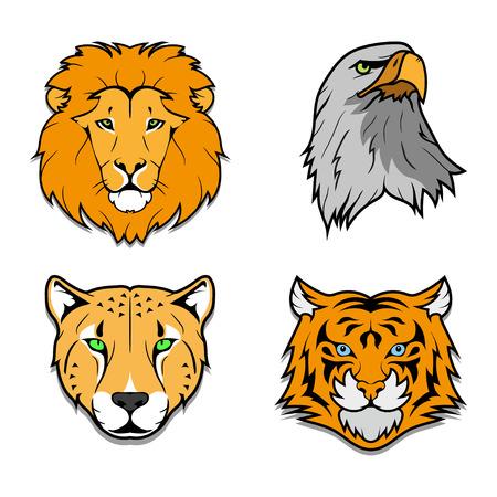 Set of wild animals.