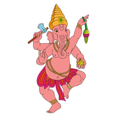 Indian god Lord hindu deity Ganesha for Diwali.