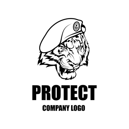 Security Company Vector Logo Design Template. Protection Logo.Tiger ...