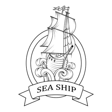 Sailing boat logo.