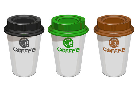 Cup of coffee, Modern vector illustration for web and mobile. Vectores