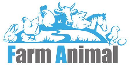 A farm animal logo. isolated on plain background Banco de Imagens - 97043208