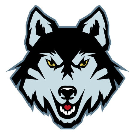 A Wolf logo. isolated on plain background