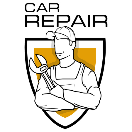 Auto service logo. Car repair shop. vector illustration