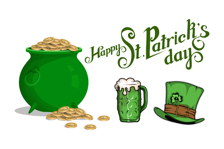 Happy St.Patrick's Day poster template vector illustration