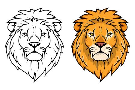 Logotipo del león. León animal del vector. León del rey aislado en el fondo blanco. Logos