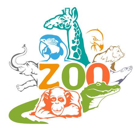 ZOO. Concept with zoo animals.