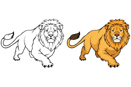 Lew ikona wektor zwierzę lew na białym tle.