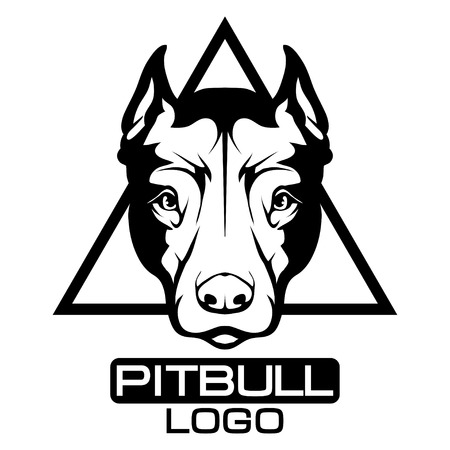 Pit bull terrier icon