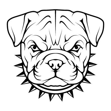 Head of a bulldog icon.